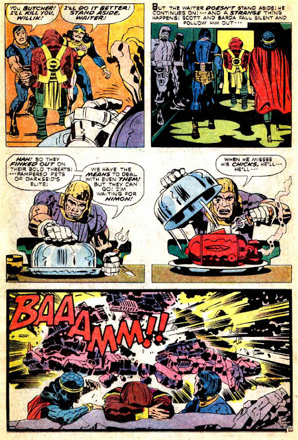 Mister Miracle v1 #9 dc 1970s bronze age comic book page art by Jack Kirby