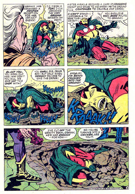 Mister Miracle v1 #18 dc bronze age comic book page art by Jack Kirby