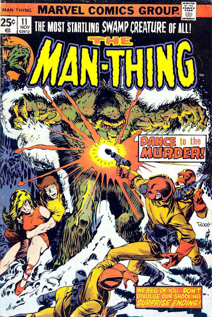 Man-Thing v1 #11 marvel 1970s bronze age comic book cover art by Mike Ploog
