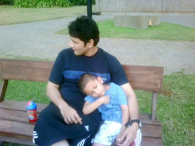 Mahesh with his son