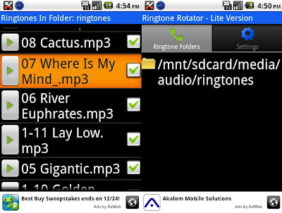 Ringtone rotator android app