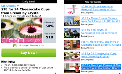 Groupon for BlackBerry