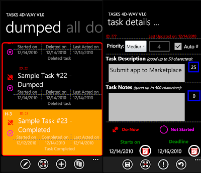 Tasks 4D-Way for windows phone 7