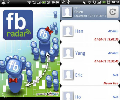 fb radar android application