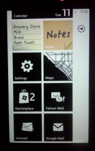 WP7 custom colors on home screen