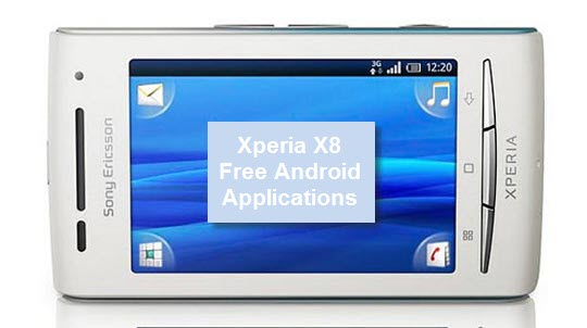 Xperia X8 free and must have applications