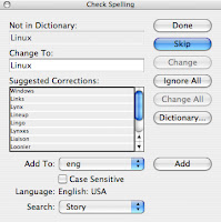 Apple spellchecker
