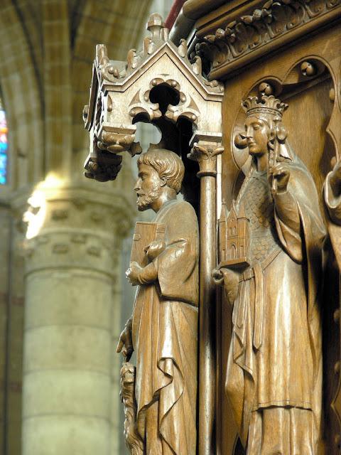 Catedral de Soissons, detalhe do púlpito