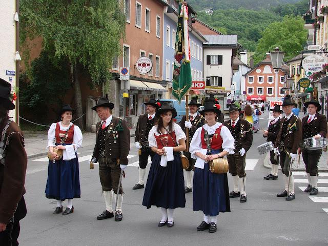 Roupas típicas, Mondsee. A cidade medieval