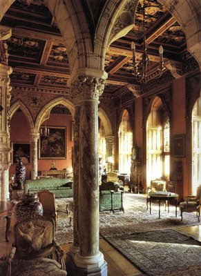 Mount Stuart, Drawing Room, catedrais medievais