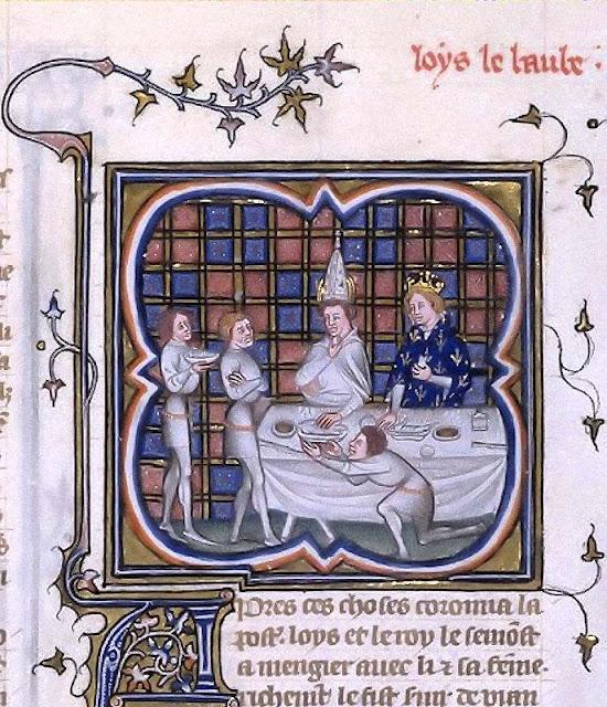 Luís II recebe o Papa João VIII, Bibliothèque Nationale de Franc