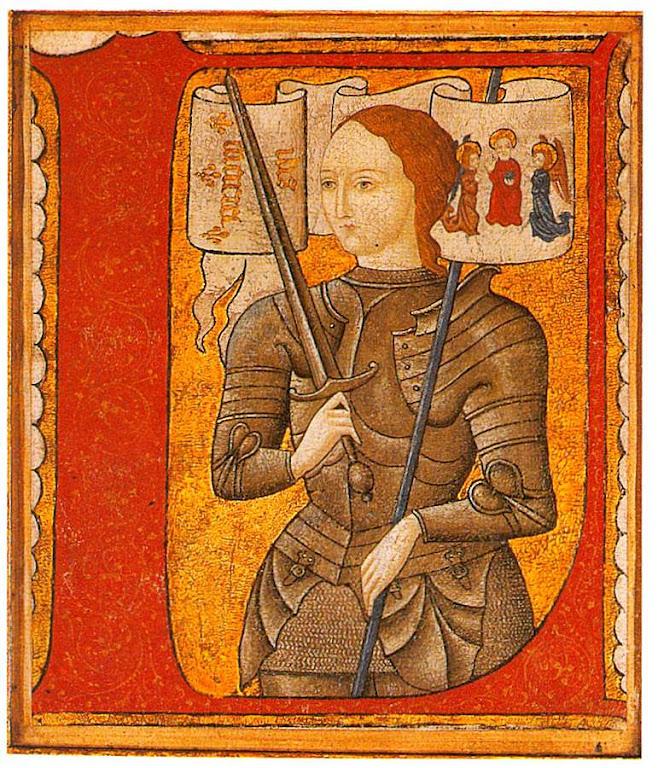 Santa Joana d'Arc, iluminura século XV