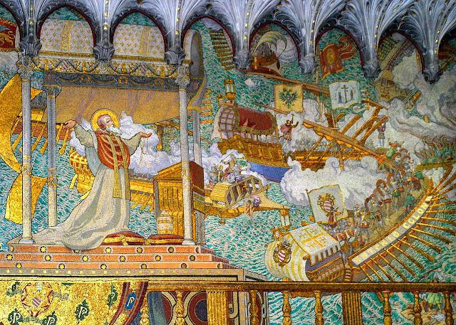 Sao Pio V vê a vitória de Lepanto, Notre Dame de Fourvière, Lyon