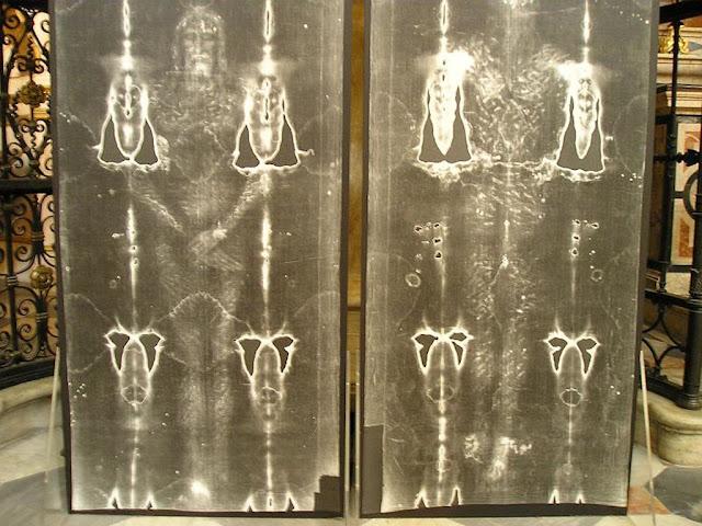 Santo Sudário, negativos de fotos, corpo inteiro