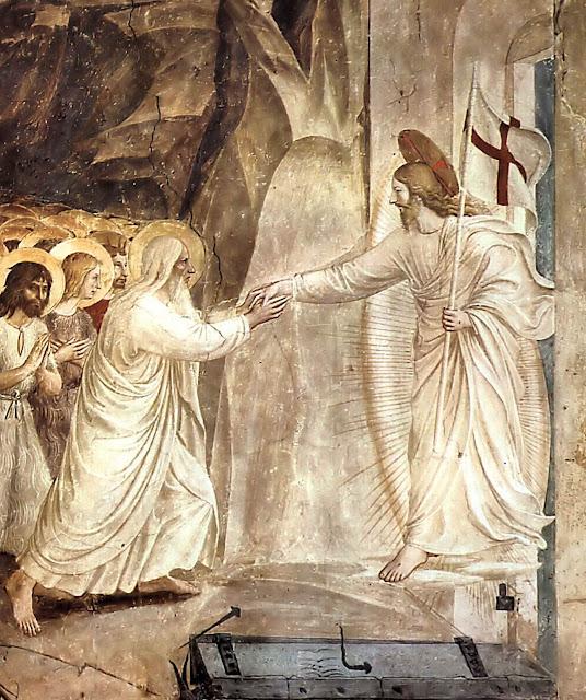 Jesus Cristo tira Adão do limbo, Fra Angelico, San Marco, Florença