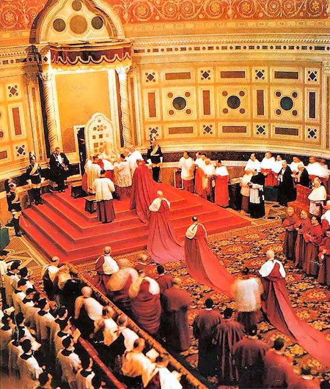 Ato de obediencia dos cardeais ao novo Papa
