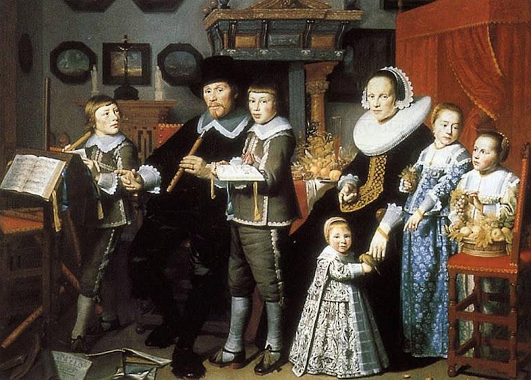 Michiel van der Dussen e família. Pintor: Hendrick van Vliet (1611/1612 - 1675).   Stedelijk Museum Het Prinsenhof, Delft, Holanda