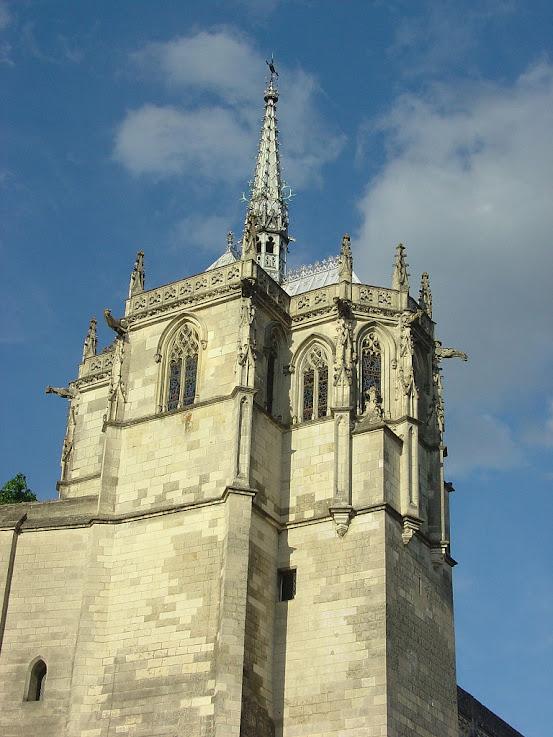 Capela de Saint Hubert, no castelo de Amboise, Loire, França