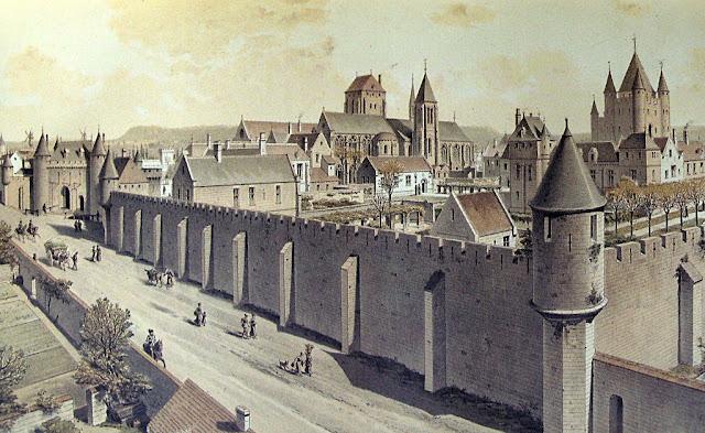 Quartel geral dos frades templários em Paris.