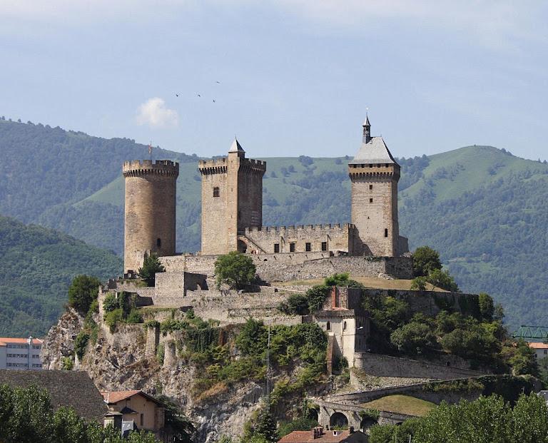 Castelo de Foix, perto de Montoulieu