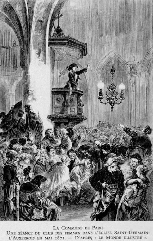 """Profanação da igreja de S.Germain l'Auxerrois por um """"clube de mulheres"""""""
