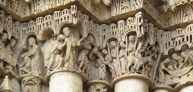Catedral de Chartres: cenas da Paixão de Cristo