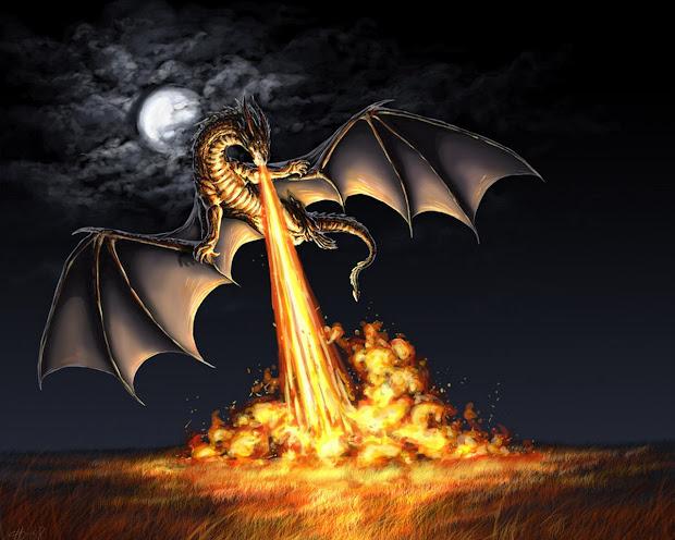 Dragons Lair - Dragon Devastating Fire