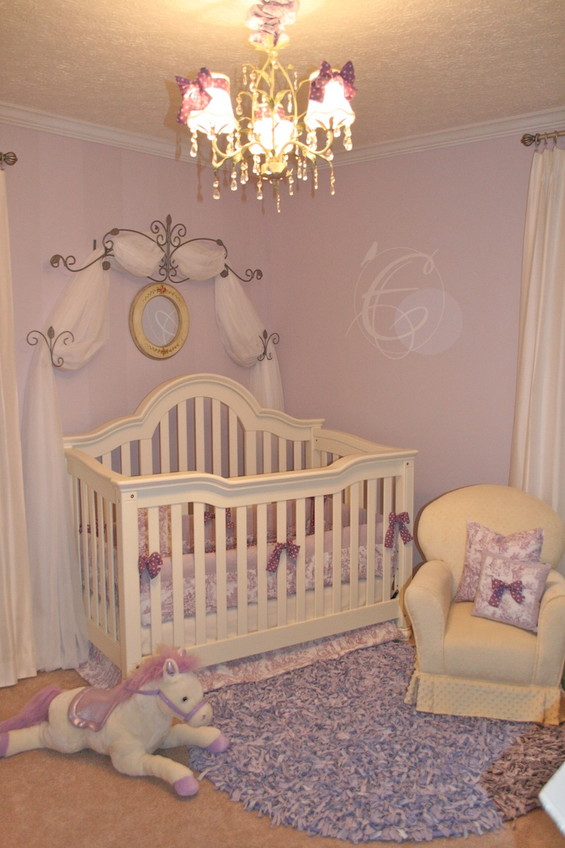 Baby Room Ideas: European Toile And Lavender Baby Nursery