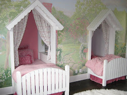 cottage bedroom sweet storybook beds cute bed room built rooms twin mural into painted cottages wall decor woods designdazzle wooded