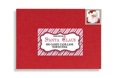 picture about Free Printable Santa Envelopes identified as santa envelope totally free template formal north pole deliver