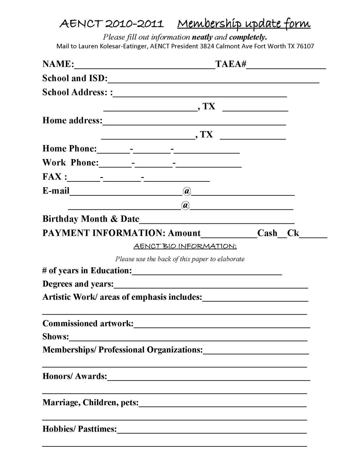 Membership Templates printable gym membership termination letter – Club Membership Form Template Word