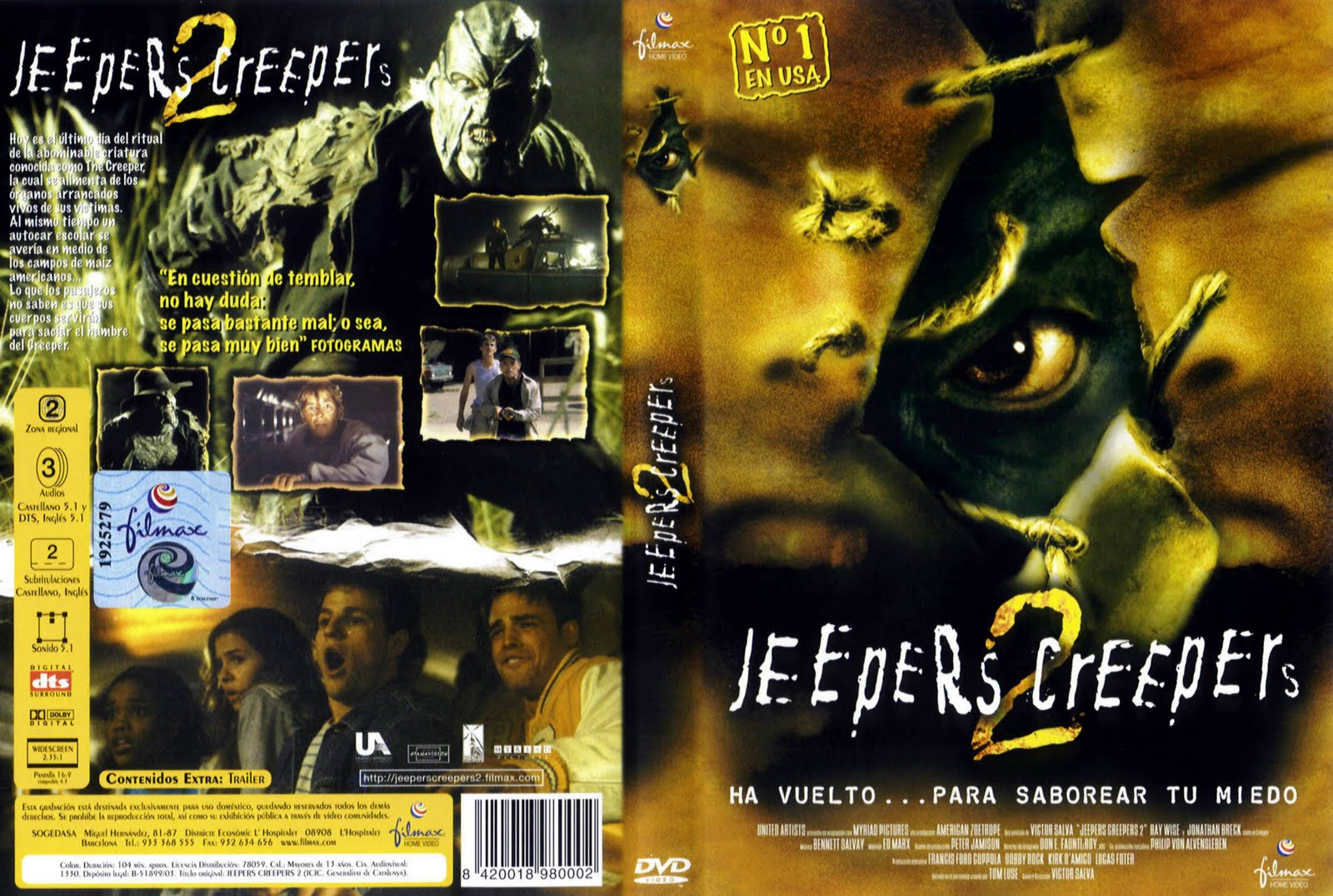 jeepers creepers 2 pelicula completa en español
