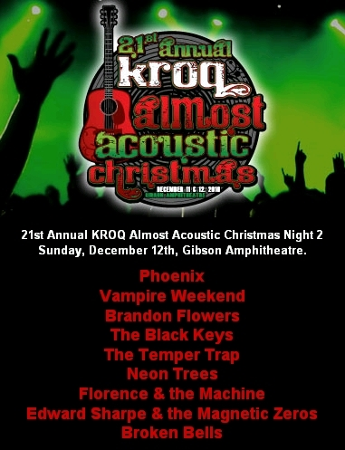 Kroq Acoustic Christmas 2021 Lineup The 21st Annual Kroq Almost Acoustic Christmas Night 2
