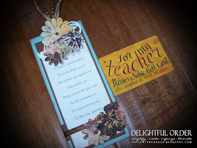 Delightful Order Teacher Gift Idea Bookmark Pencil Holder