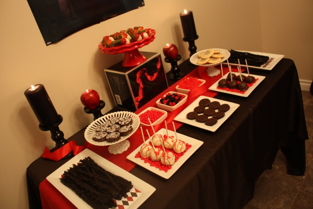 Candy and Cake Dessert Table Twilight Eclipse Party