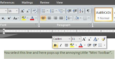Office 2007 Mini Toolbar