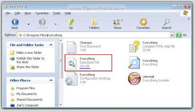everything-database-size