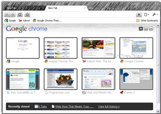 screenshot Google Chrome 4 download standalone