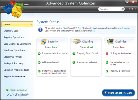 Advanced System Optimizer 3 screenshot