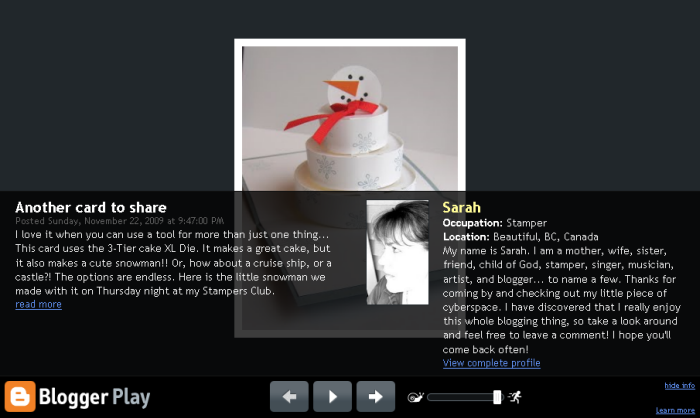 Blogger Images in Real Time