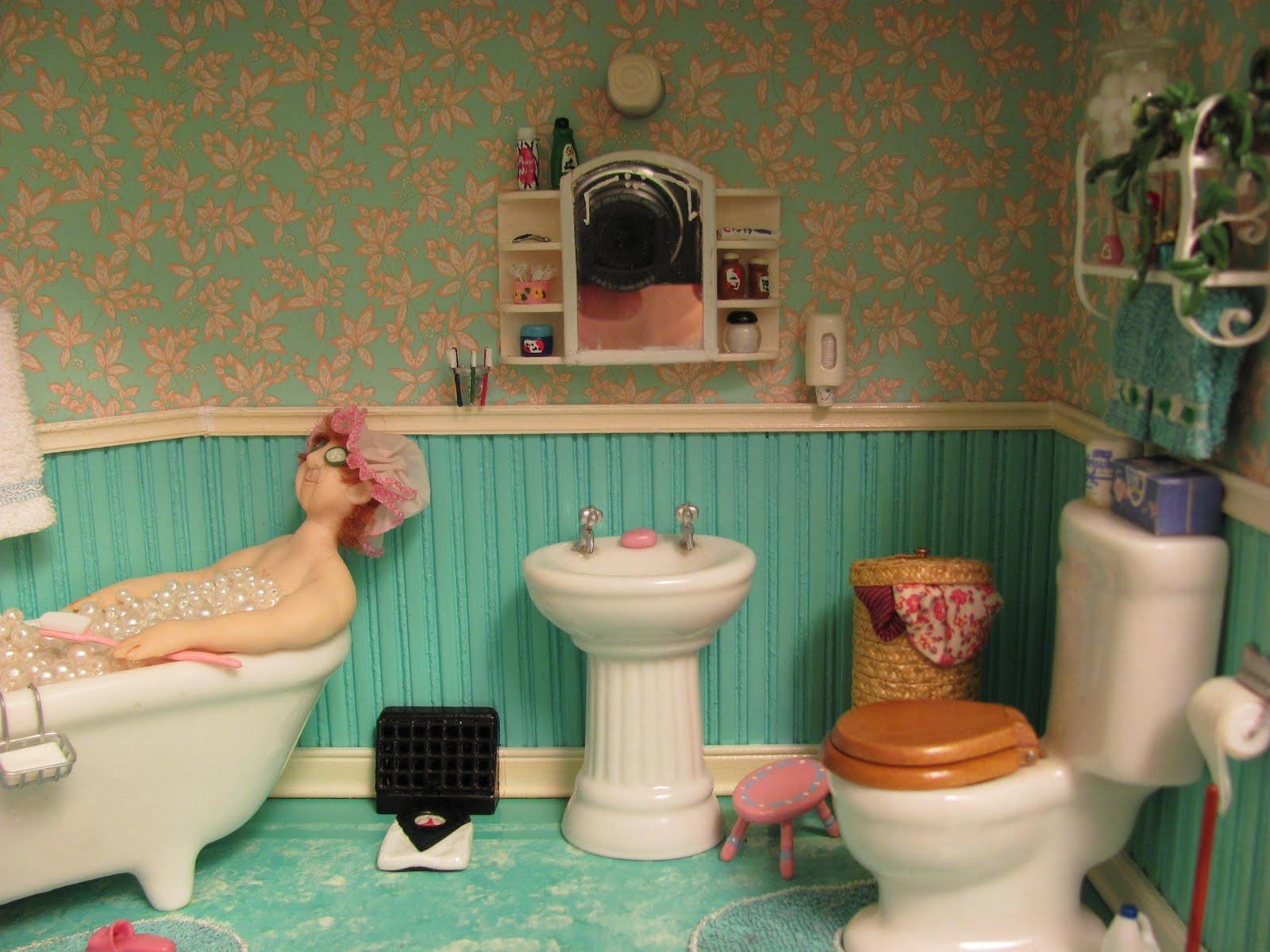 Diy Dollhouse Furniture Bathroom