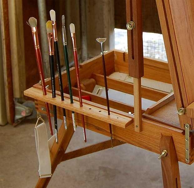 Ron Guthrie Art Brush Holder Homemade