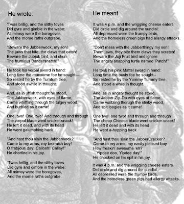 "Analysis of ""Jabberwocky"" by Lewis Carroll Essay Sample"