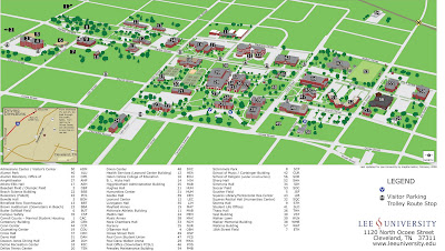 Lee University Map The Editor's Weblog: Biggest changes in campus map are not what