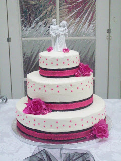hot pink wedding cake ideas bb cakes pink and black wedding cake 15341