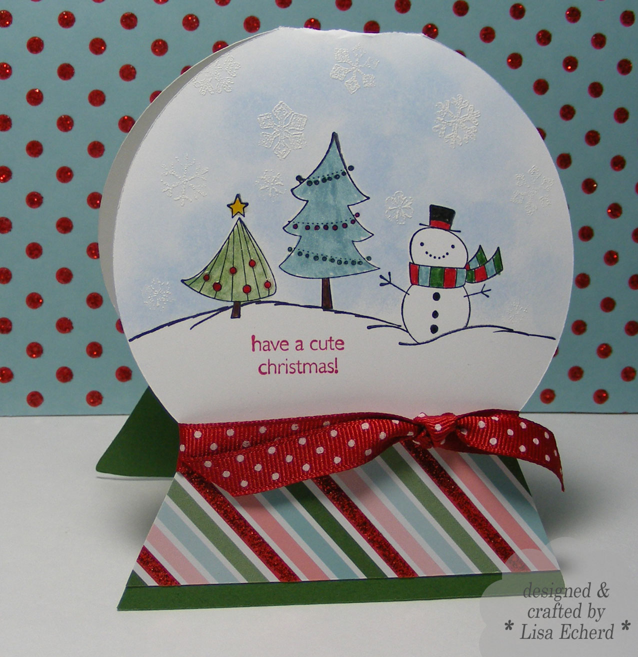 Lisa E Design Blog: Last of the Cute Christmas Cards