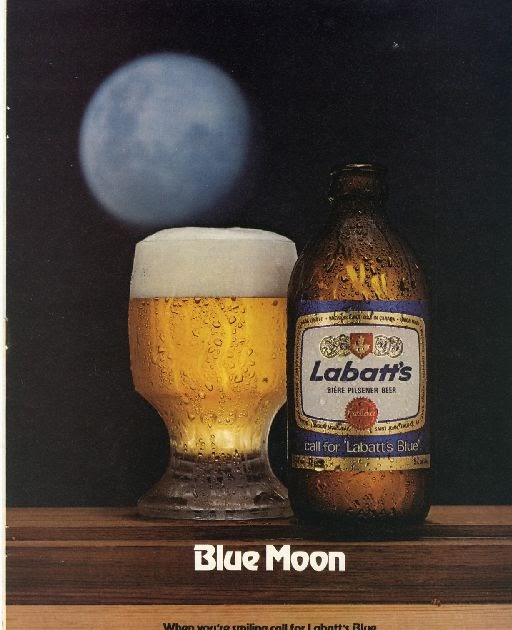 1979 Labatt S Beer Old Magazine Ad Photo Blue Moon Old