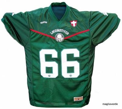 9269c1b30 Maglia Verde  Jersey de futebol americano - Palmeiras Locomotives
