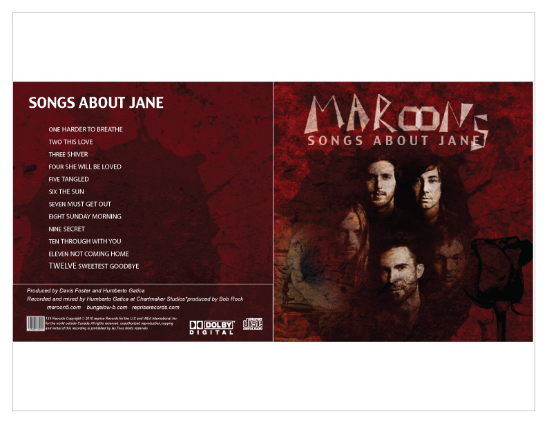 CD Cover For Maroon 5 | Alixdesign