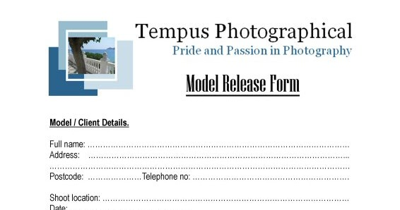 Modeling 101 - A Model\u0027s Diary The Model Release Form